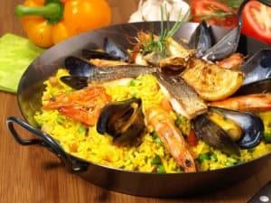 Hiszpańskie danie paella