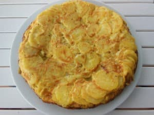 Hiszpańskie danie tortilla de patatas