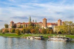 widok na Wisłę i Zamek Wawelski