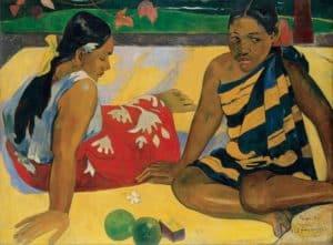 """obraz Paula Gauguina """"Parau Api"""""""