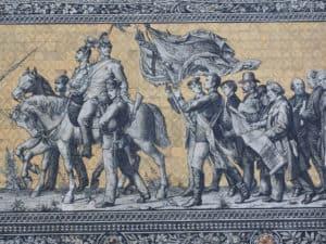 mozaika ścienna Orszak Książęcy w Dreźnie