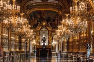 wnętrze gmachu Opery Garnier