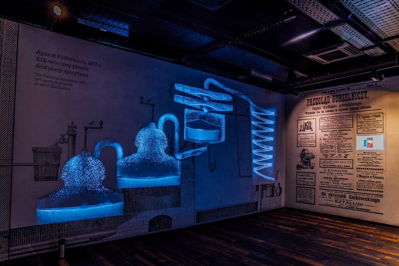 wystawa na temat destylacji w Muzeum Polskiej Wódki