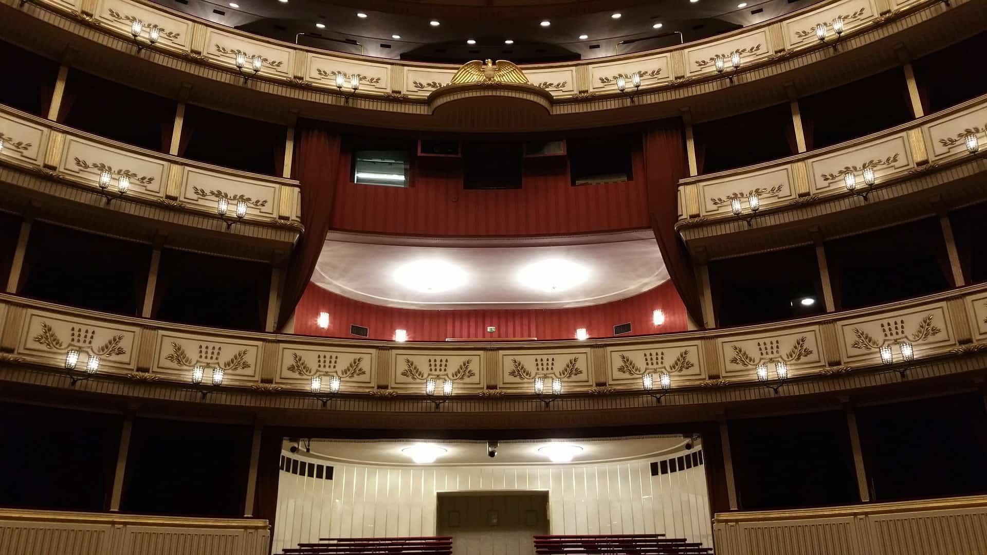 wnętrze sali koncertowej Wiedeńskiej Opery Narodowej
