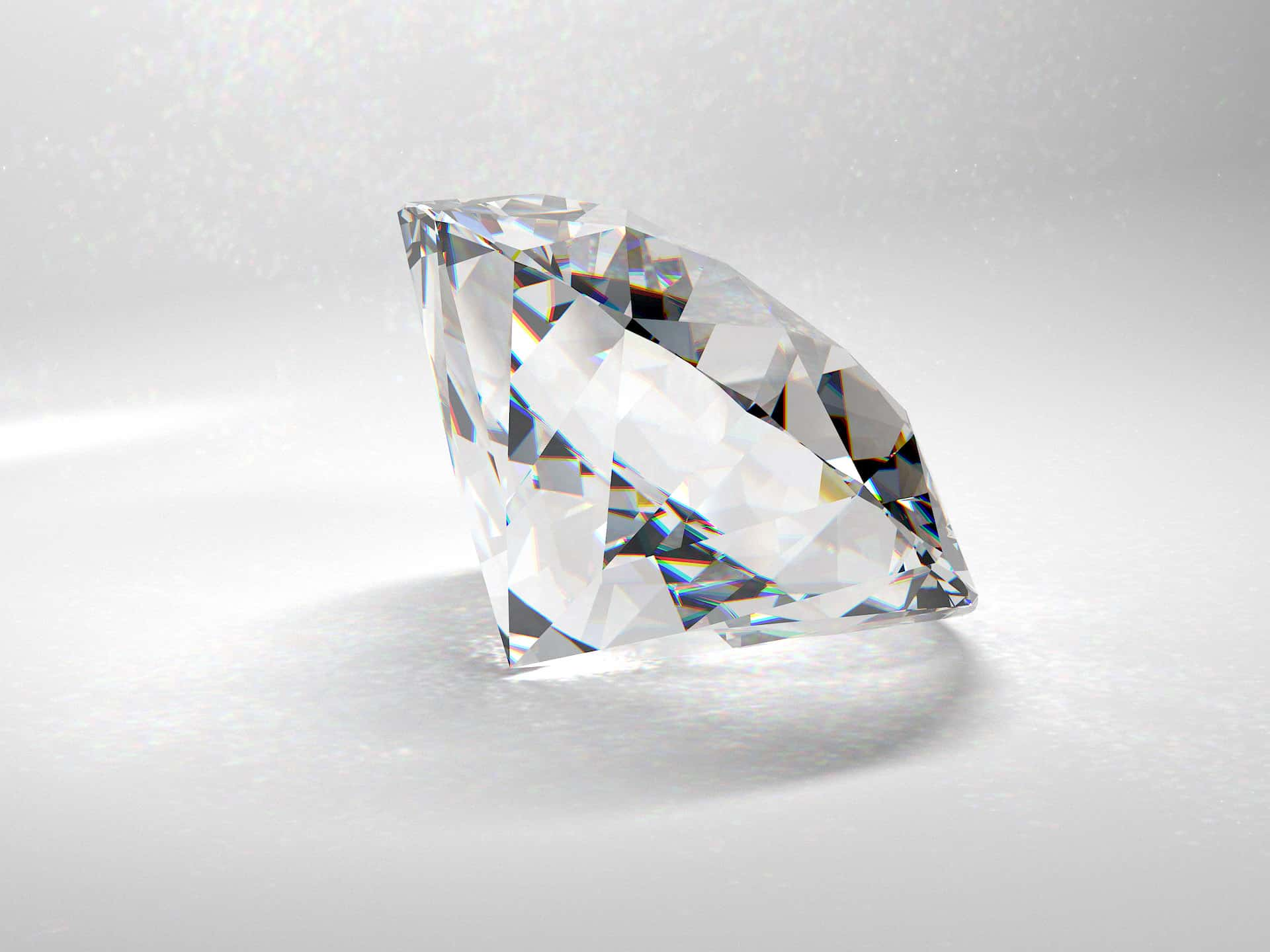 oszlifowany diament w powiększeniu