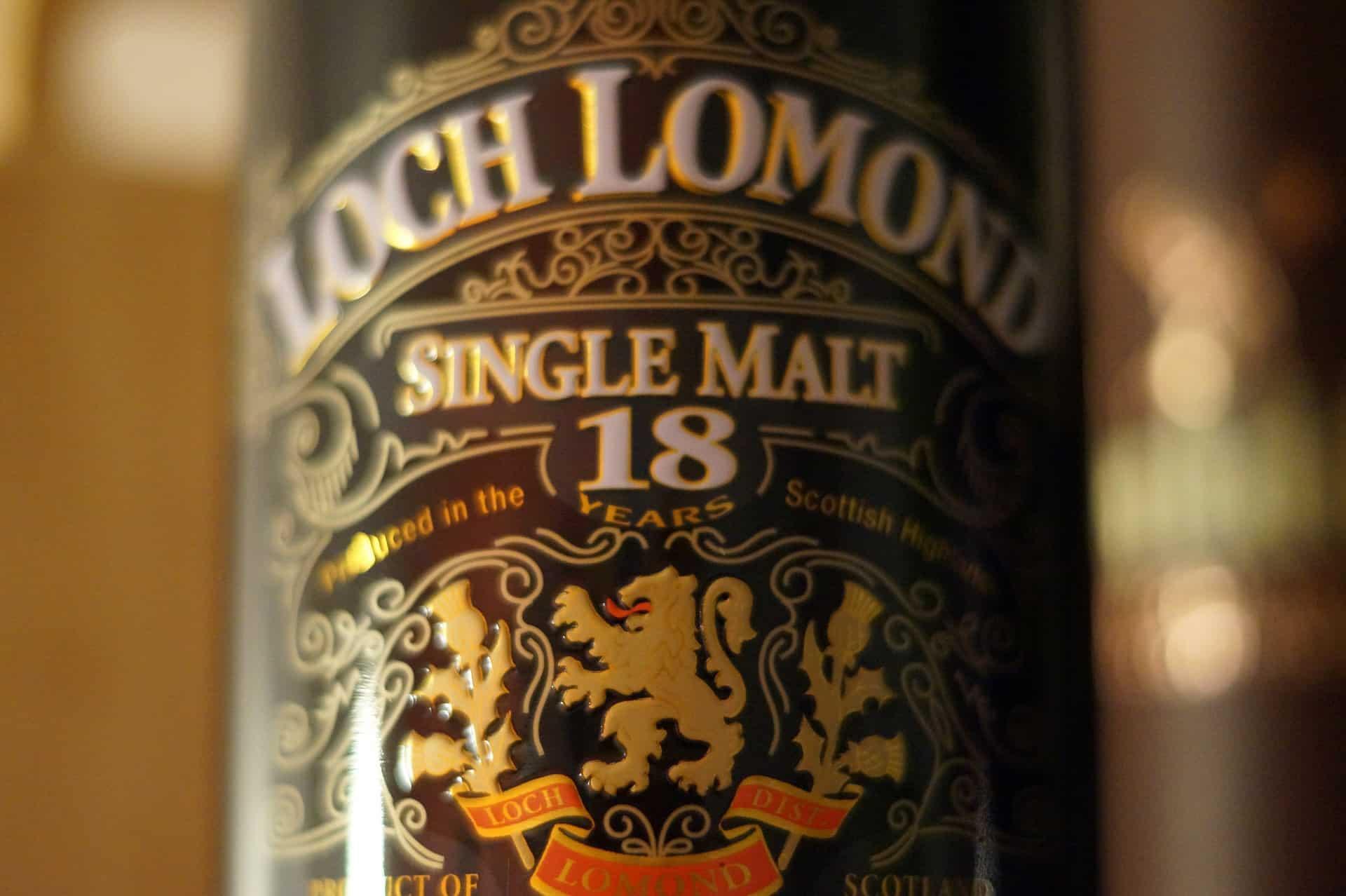 etykieta na butelce whisky z regionu Highlands